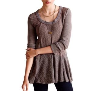 Anthropologie MEADOW RUE Peplum Sweater XS